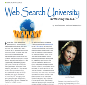 Jan 2013 AIIP Connections - Jennifer Burke review of Web Search U