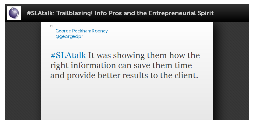 AIIP SLA Entrepreneurial spirit tweet chat