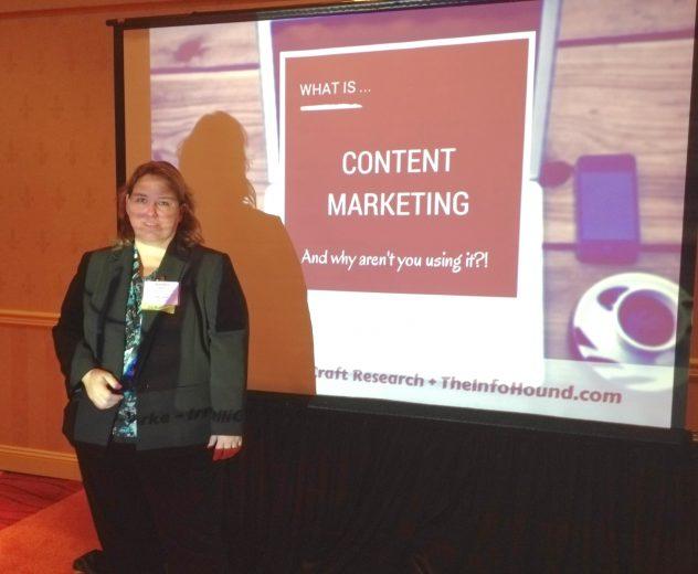 Jennifer Burke library communications conference content marketing presentation