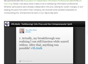 SLA-AIIP tweetchat-MEB quote