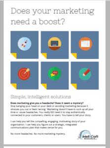 IntelliCraft Marketing Services Flyer-side1