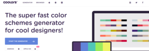 coolors color schemes branding tool