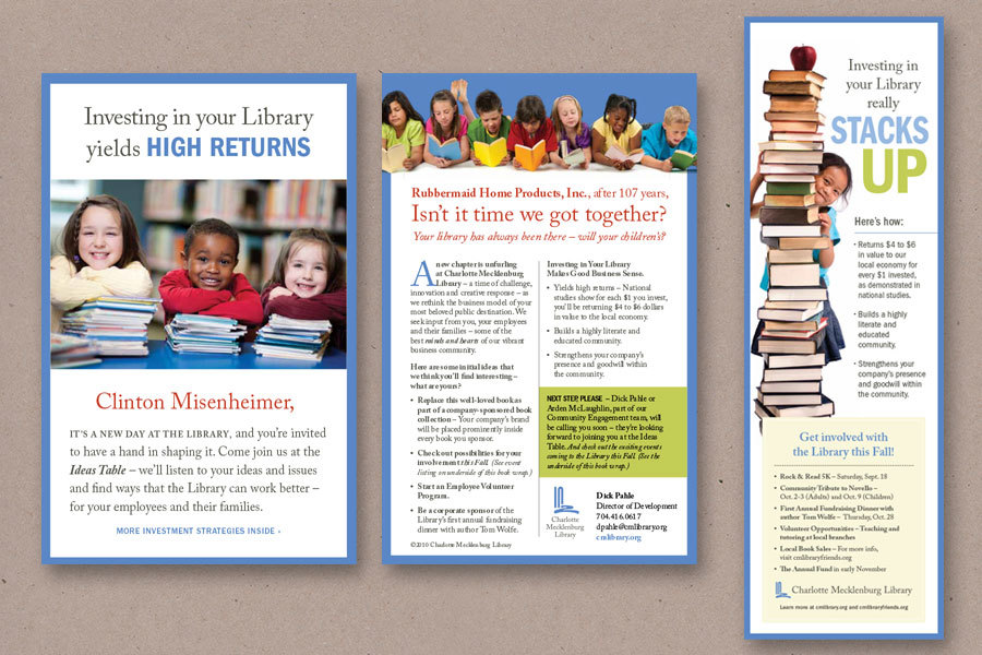 example of library marketing direct mail from Charlotte Mecklenburg Library