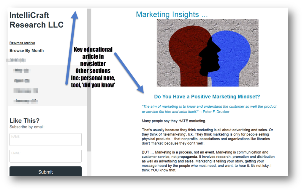 IntelliCraft Research marketing insights newsletter example