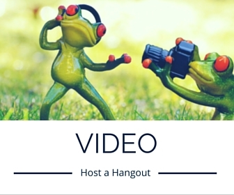 content marketing can be hosting a hangout or video series