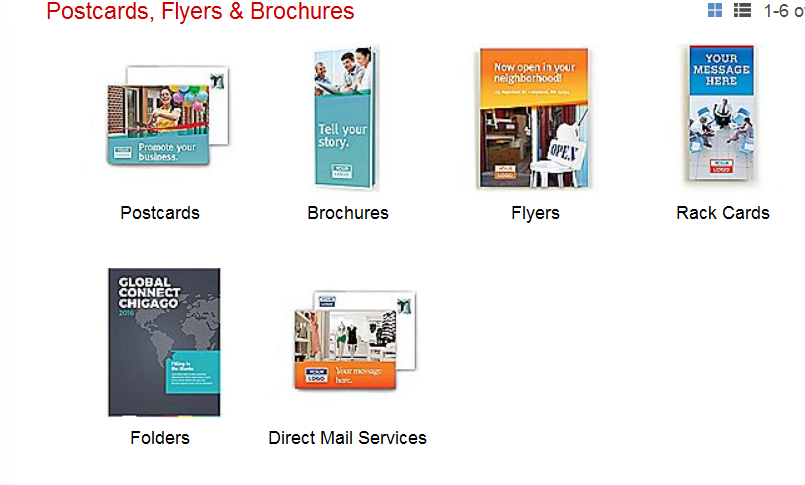 examples of printed marketing collateral