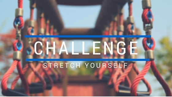 content marketing Challenge yourself to stretch like on the playground