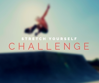 stretch yourself challenge like a giant skateboard jump