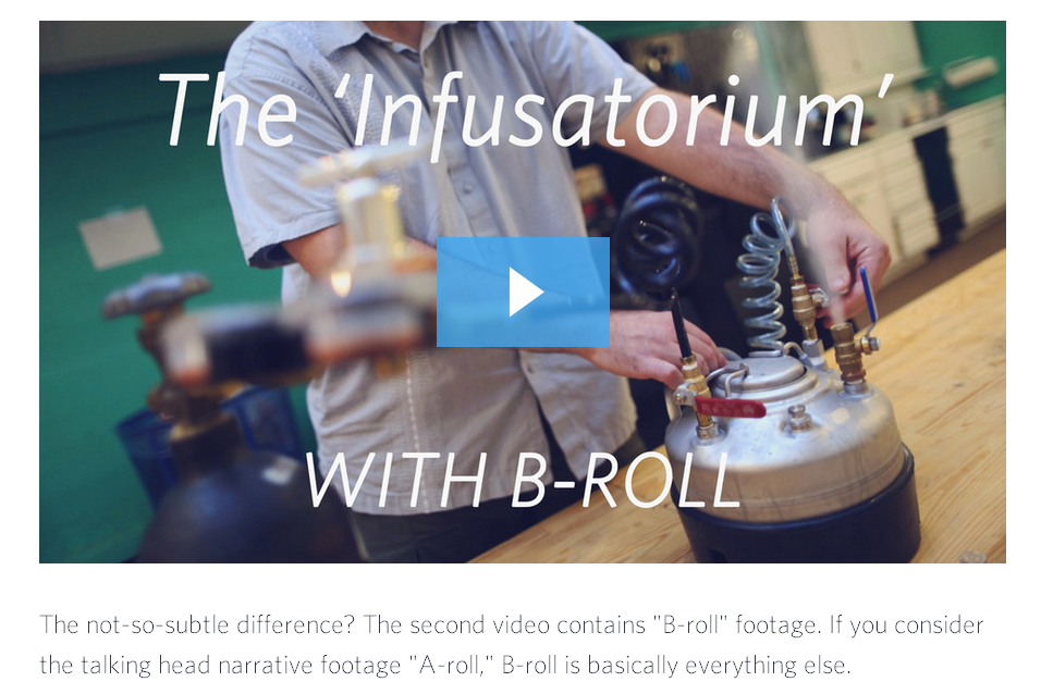 Video marketing b-roll footage example from Wistia