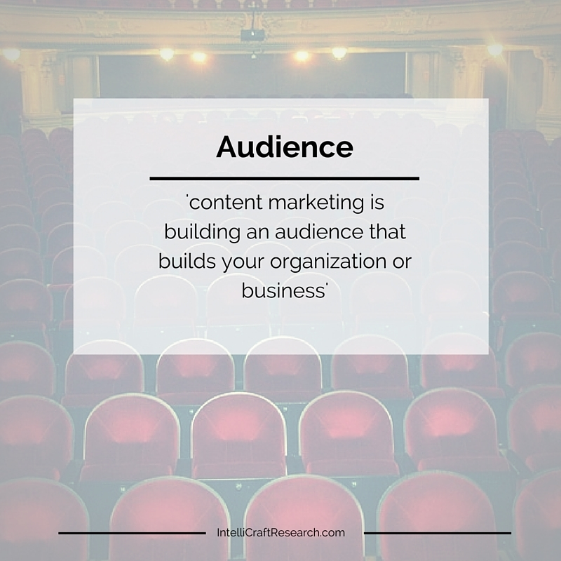Content Marketing is about audience connections