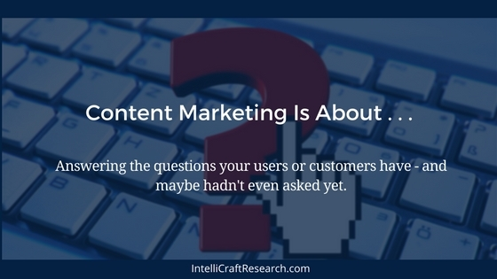 content marketing is about answering questions