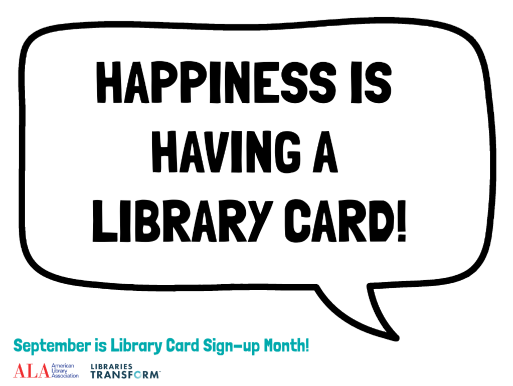 Happiness is a library card