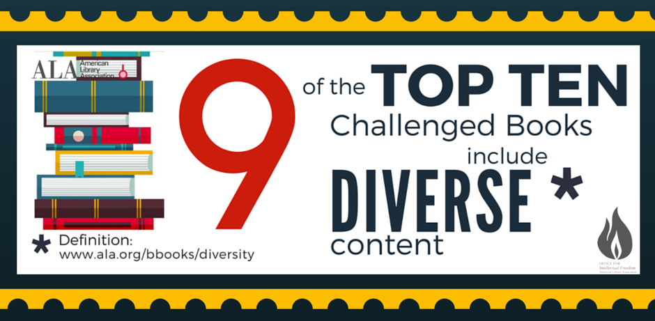 top challenges to books with diverse content