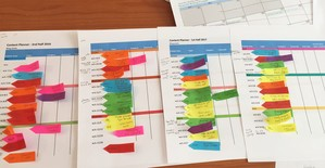 one-year-4-quarters-content-plan-sticky-notes