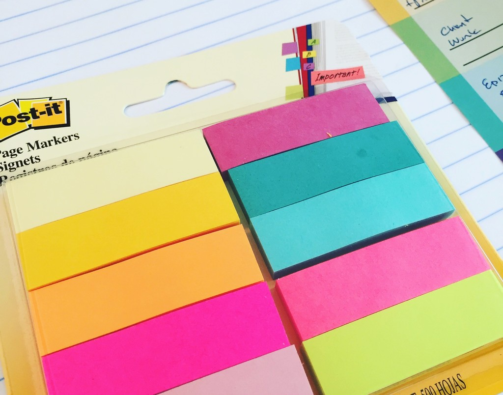 tropical-post-it-sticky-flag-set
