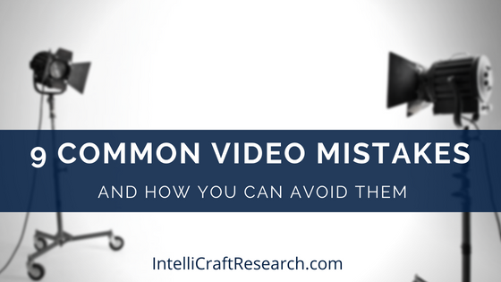 9 common video mistakes post video lights