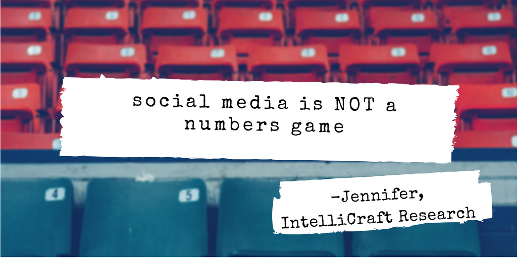 social media not just about numbers of followers