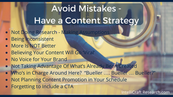 common content marketing and strategy mistakes to avoid