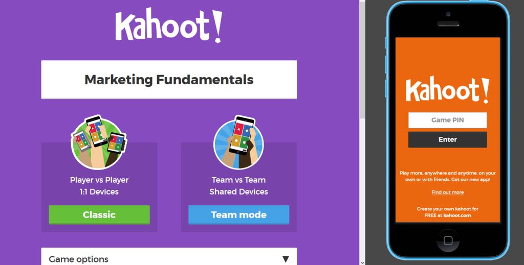Kahoot educational quiz tool marketing example