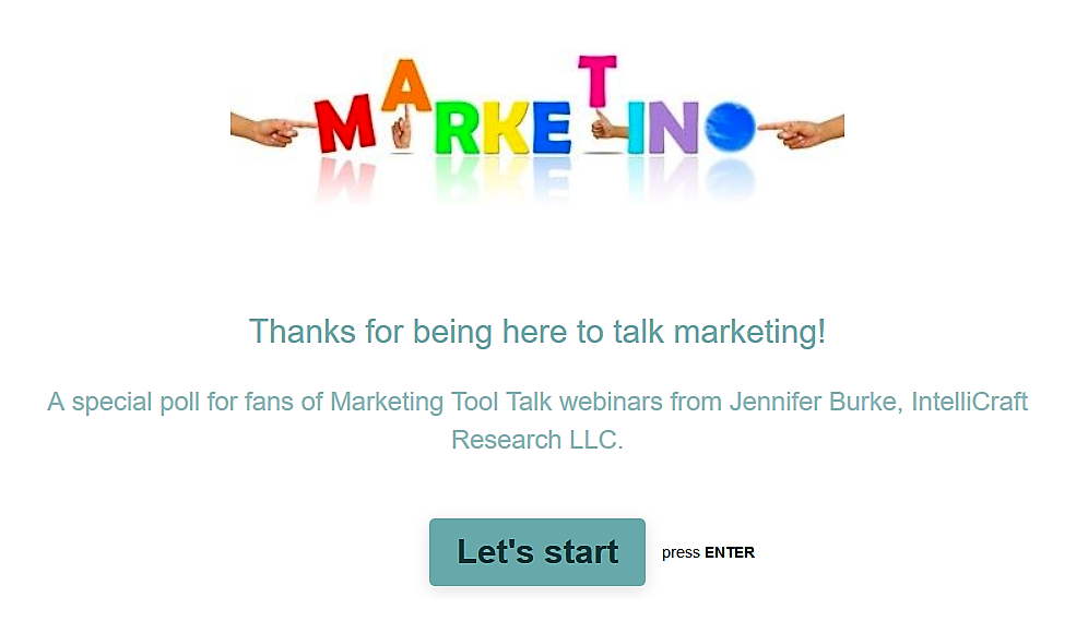 Typeform survey tool Marketing Mindset example survey