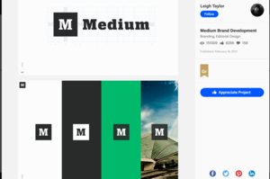 Medium's Branding Kit shared on Behance