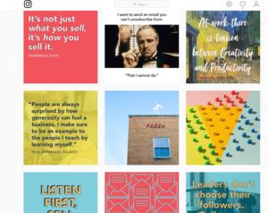 Hubspot Instagram template styles