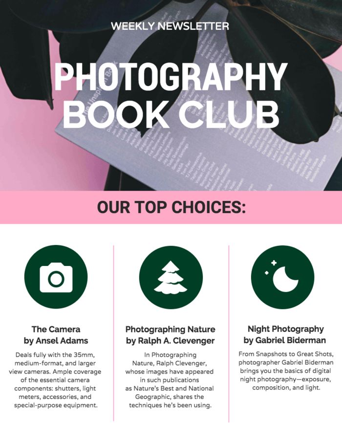 Venngage Book Club infographic example