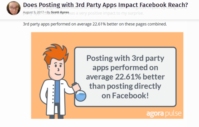 AgoraPulse Social Media Lab Facebook Scheduling Experiment results