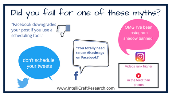 IntelliCraft library marketing social media myths facebook twitter instagram
