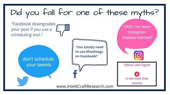 IntelliCraft library marketing social media myths facebook twitter instagram