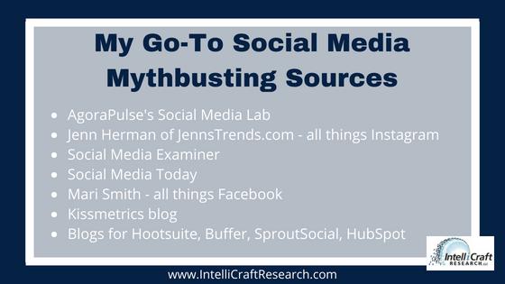 IntelliCraft Social Media Mythbusting Favorite Resources Social Experts