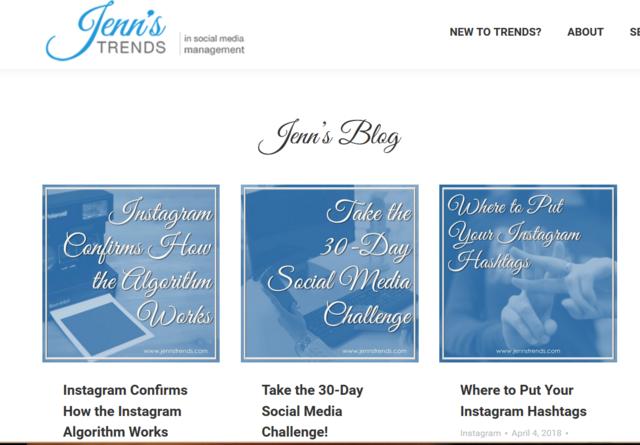 Instagram Social Media Expert Jenn Herman Jenns Trends blog